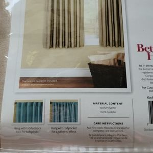 "Better Homes And Gardens Accents - 63"" Faux Silk Window Panel Better Homes and Garden"